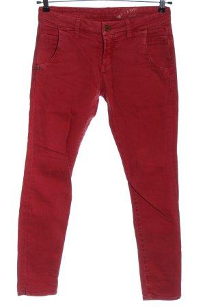 Rich & Royal Jeans taille basse rouge style décontracté