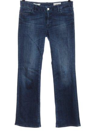 Rich & Royal Jeansschlaghose blau Casual-Look
