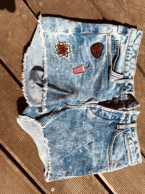 Rich & Royal Denim Shorts neon blue cotton