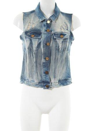 Rich & Royal Jeansweste blau Casual-Look