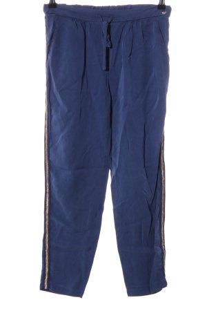Rich & Royal Jeggings blau Streifenmuster Casual-Look