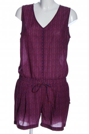 Rich & Royal Jumpsuit lila-rot Allover-Druck Casual-Look