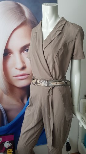 Rich & Royal Langer Jumpsuit grey brown