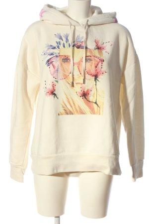 Rich & Royal Kapuzensweatshirt creme Motivdruck Casual-Look