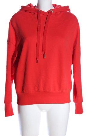 Rich & Royal Kapuzensweatshirt rot Schriftzug gedruckt Casual-Look
