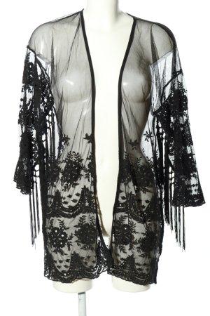 Rich & Royal Kimono-Bluse schwarz Elegant