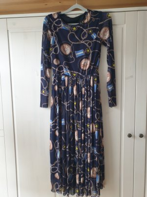 Rich & Royal Kleid Gr.36/S, Maxi,  Mesh,, blau