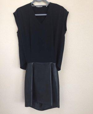Rich & Royal Vestido de cuero negro
