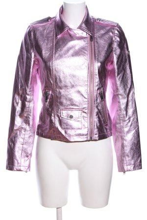Rich & Royal Kunstlederjacke pink Casual-Look