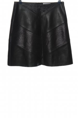 Rich & Royal Falda de cuero de imitación negro look casual