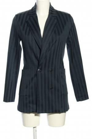 Rich & Royal Kurz-Blazer blau Streifenmuster Business-Look