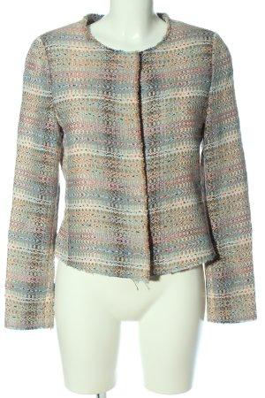 Rich & Royal Blazer corto Patrón de tejido look casual