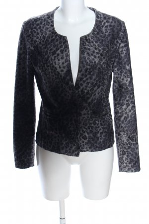 Rich & Royal Kurz-Blazer schwarz-hellgrau Allover-Druck Casual-Look