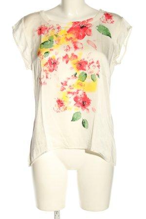 Rich & Royal Blusa de manga corta blanco-rojo estampado floral look casual