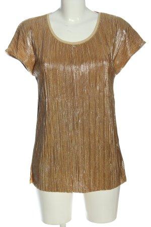 Rich & Royal Kurzarm-Bluse bronzefarben Casual-Look