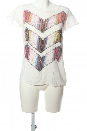 Rich & Royal T-Shirt weiß-pink Motivdruck Casual-Look