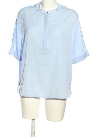 Rich & Royal Kurzarm-Bluse blau Casual-Look