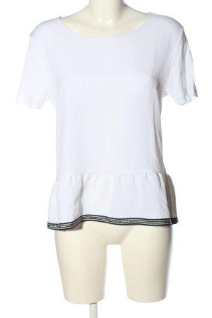 Rich & Royal Blouse à manches courtes blanc élégant