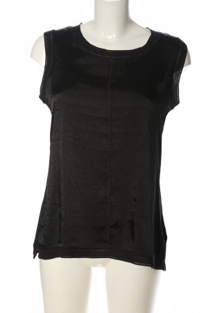 Rich & Royal Kurzarm-Bluse schwarz Casual-Look