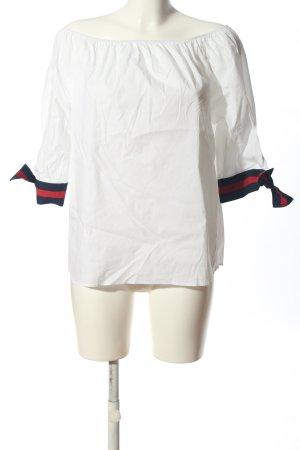 Rich & Royal Kurzarm-Bluse weiß Casual-Look