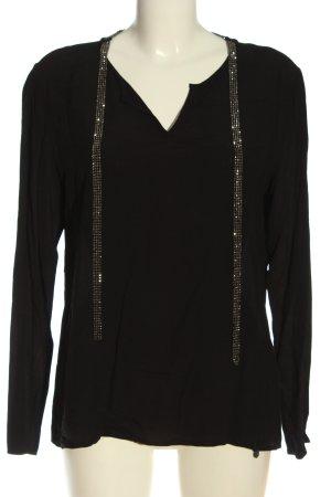 Rich & Royal Langarm-Bluse schwarz Elegant