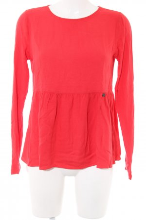 Rich & Royal Langarm-Bluse rot Casual-Look