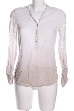 Rich & Royal Langarm-Bluse wollweiß Farbverlauf Casual-Look