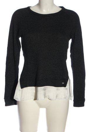 Rich & Royal Langarm-Bluse schwarz-weiß Casual-Look
