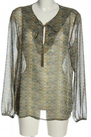 Rich & Royal Blusa de manga larga estampado repetido sobre toda la superficie