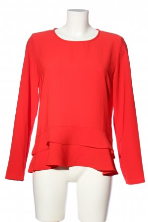 Rich & Royal Langarm-Bluse rot Business-Look