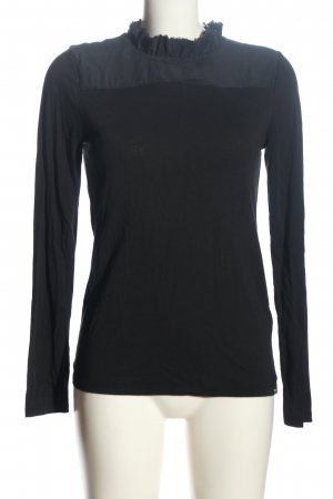 Rich & Royal Langarm-Bluse schwarz Casual-Look