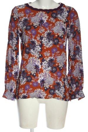 Rich & Royal Langarm-Bluse Blumenmuster Casual-Look
