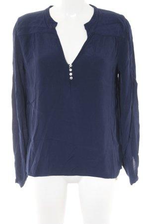 Rich & Royal Langarm-Bluse dunkelblau Business-Look