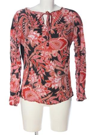 Rich & Royal Langarm-Bluse abstraktes Muster Casual-Look