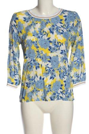 Rich & Royal Blouse à manches longues motif de fleur style décontracté