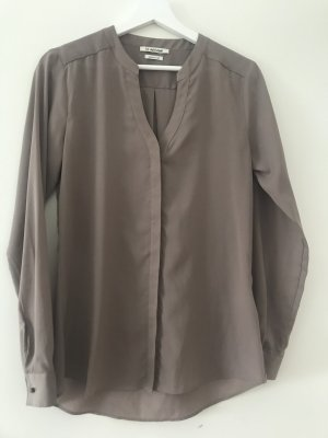 Rich & Royal Blusa in seta marrone-grigio Poliestere