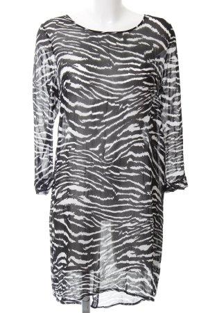 Rich & Royal Langarmkleid schwarz-weiß Animalmuster extravaganter Stil