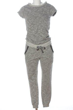 Rich & Royal Langer Jumpsuit gris claro moteado look casual
