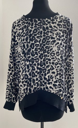 rich and royal Top extra-large noir-blanc polyester