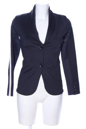 Rich & Royal Long-Blazer blau-weiß Streifenmuster Business-Look