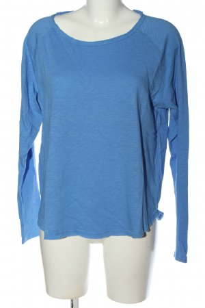 Rich & Royal Longsleeve blau meliert Casual-Look