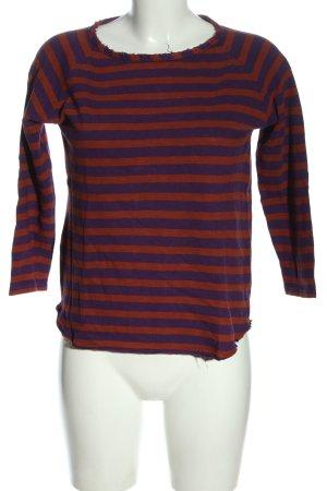 Rich & Royal Top à manches longues rouge-violet motif rayé style décontracté