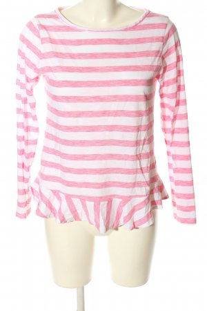 Rich & Royal Longsleeve weiß-pink Streifenmuster Casual-Look
