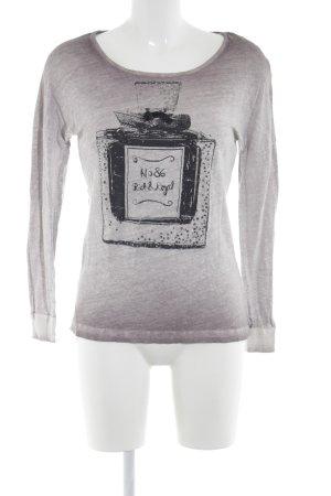 Rich & Royal Longsleeve braunviolett-weiß Farbverlauf Casual-Look