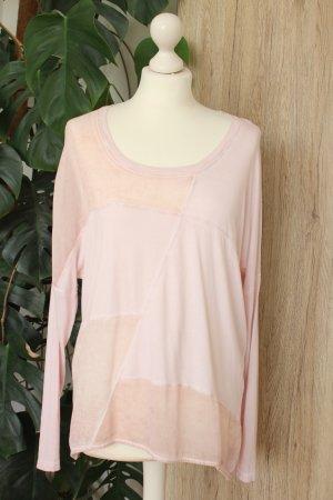 Rich&Royal Longsleeve Langarm-Shirt Patchwork Rosé M 38