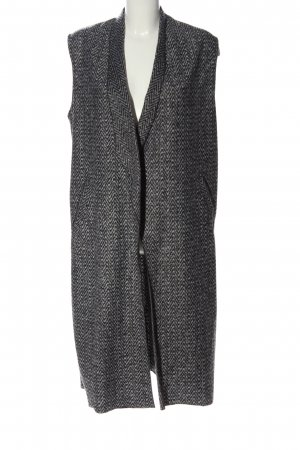 Rich & Royal Gilet long tricoté gris clair imprimé allover style décontracté