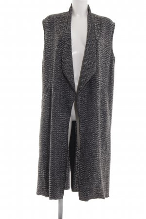 Rich & Royal Longstrickweste schwarz-weiß Allover-Druck Casual-Look