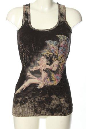 Rich & Royal Lange top zwart-lichtgrijs prints met een thema casual uitstraling