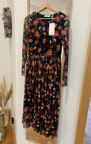 Rich & Royal Mesh Blumen Kleid mit Plisseerock