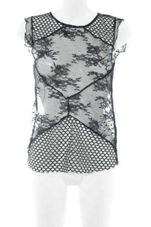 Rich & Royal Netzshirt schwarz Casual-Look
